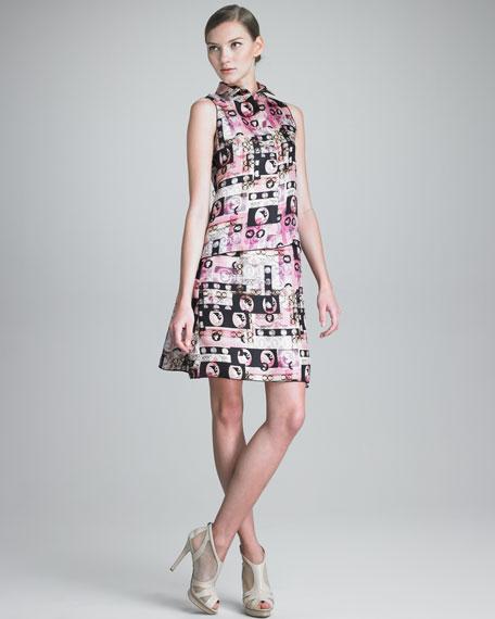 Cameo-Print Skirt