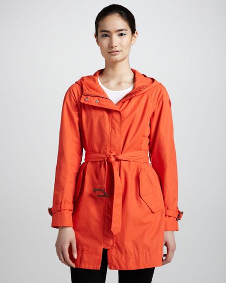 Belted Zip Raincoat