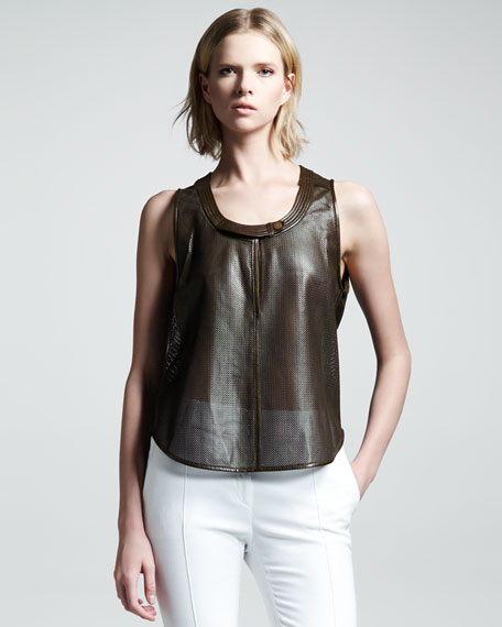 Hales Perforated Leather Tank
