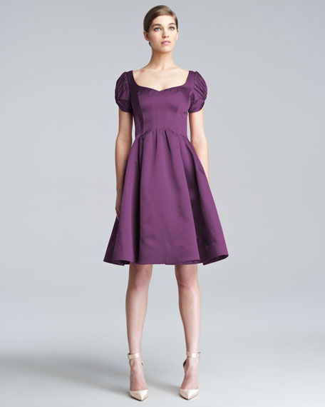 Flared Cloque Dress
