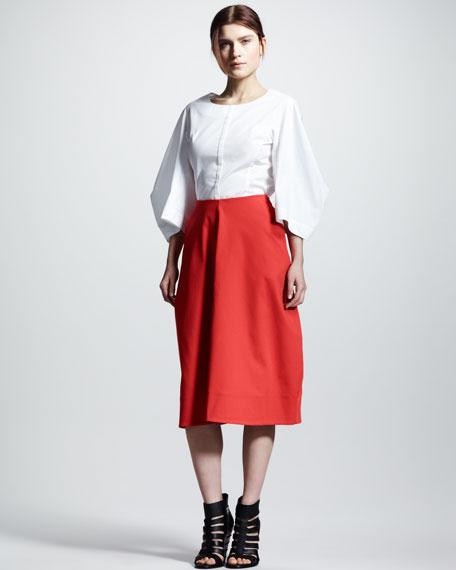 Four-Panel Pique Skirt