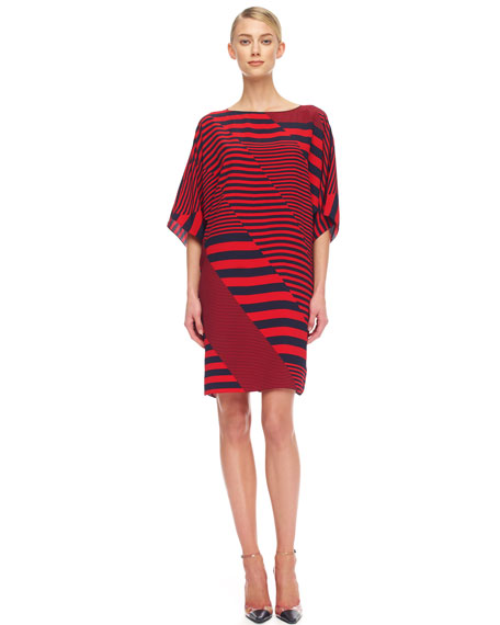 Mix-Stripe Jersey Dress