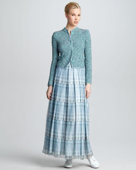 Kaleidoscope-Print Tiered Maxi Skirt