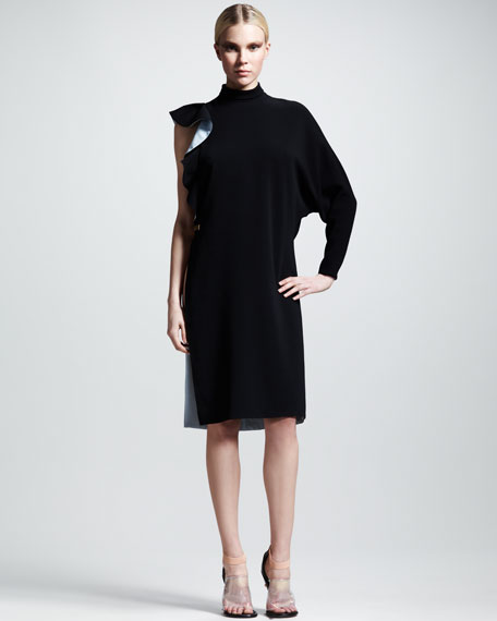 Stretch-Cady Asymmetric Dress