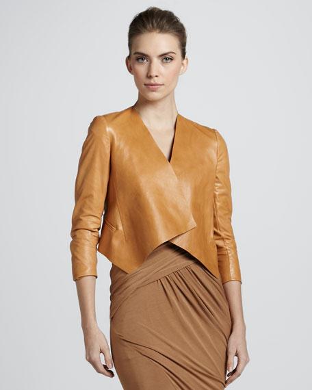 Folded Leather Jacket, Saddle