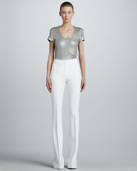 Seamed Flare Pants