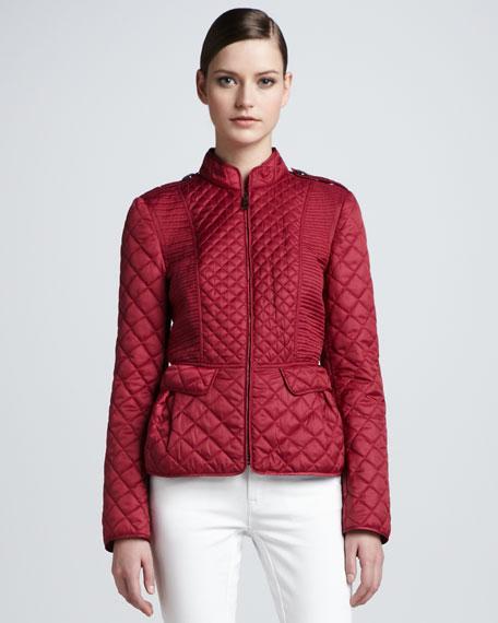 Quilted Slim Zip-Front Jacket