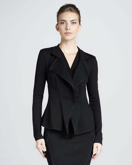 Cascading Lapel Jacket, Black