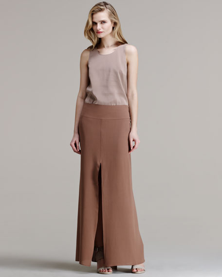 Silk Crepe Mermaid Maxi Skirt