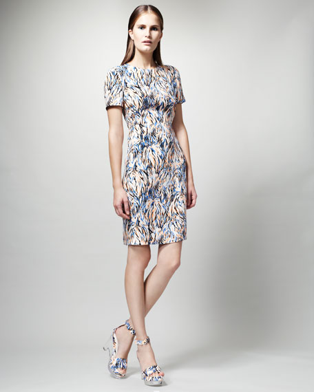 Printed Short-Sleeve Dress
