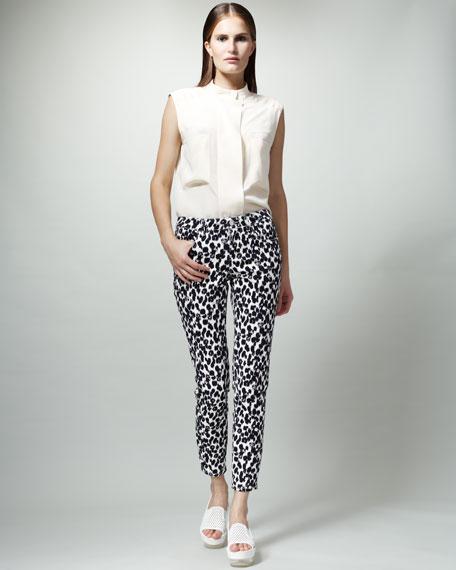 Skinny Animal-Print Jeans