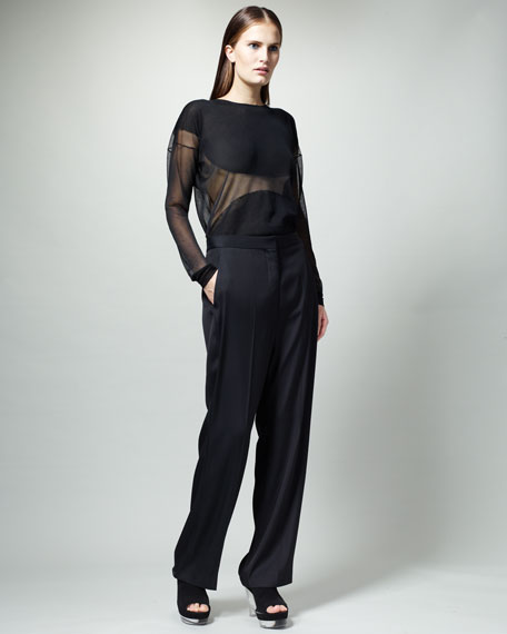 Slouchy Ankle Pants, Black