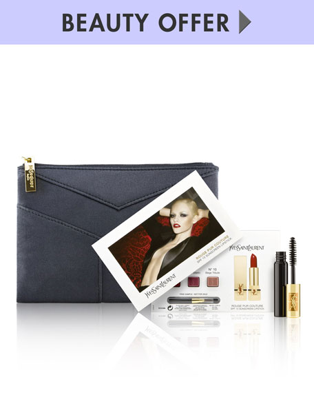 Yours with any $150 Yves Saint Laurent Beaute purchase