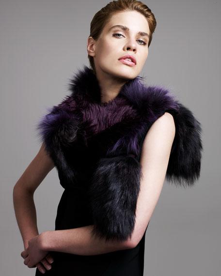 Patchwork Fur Scarf
