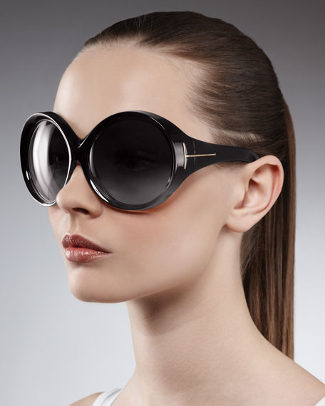 8d6451672954f Tom Ford Ali Oversized Round Sunglasses