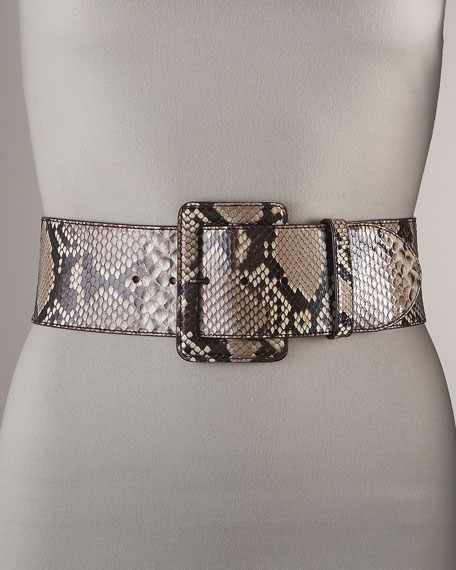 Python Buckle Belt