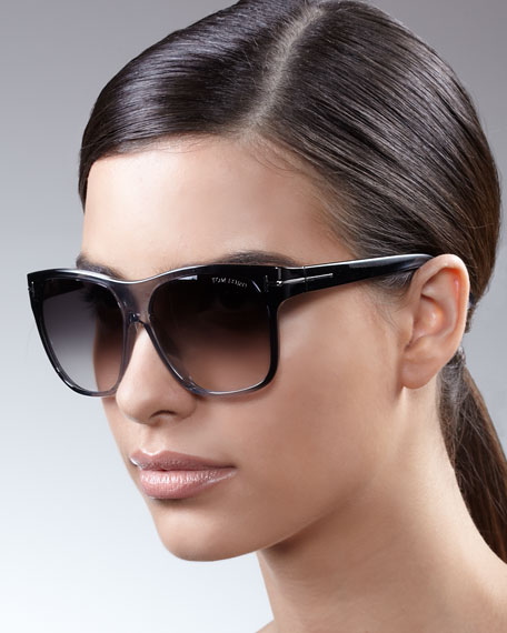 Gradient Sunglasses, Black/Gray