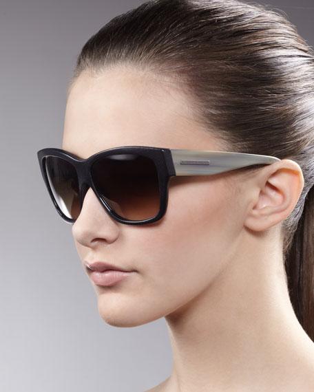 Contrast-Arm Sunglasses