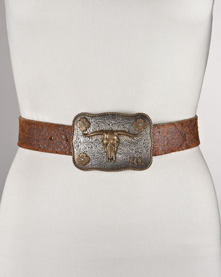 Longhorn-Buckle Belt