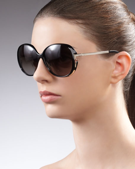 Sleek Logo-Arm Sunglasses