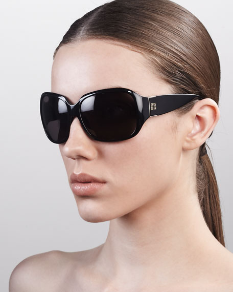 Square-Frame Logo Sunglasses