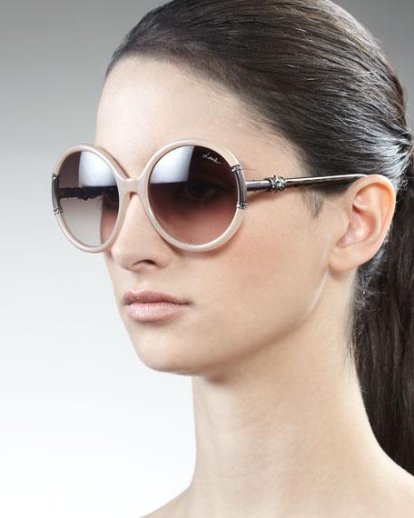 Shiny Opaline Sunglasses, Ivory