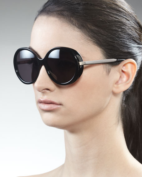 Shiny Round Sunglasses