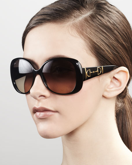 Bridle Logo Sunglasses, Black
