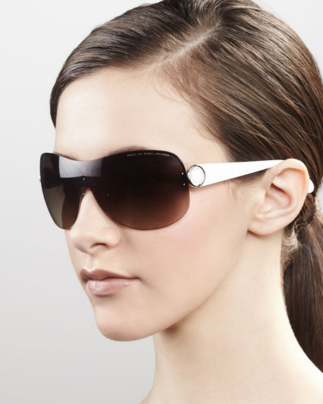 Shield Sunglasses, White