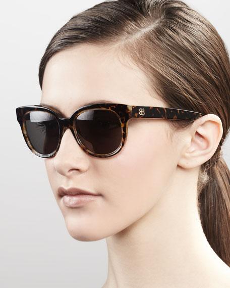 Enamel Sunglasses, Havana Horn