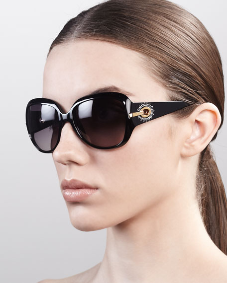 Precieuse Sunglasses, Shiny Black