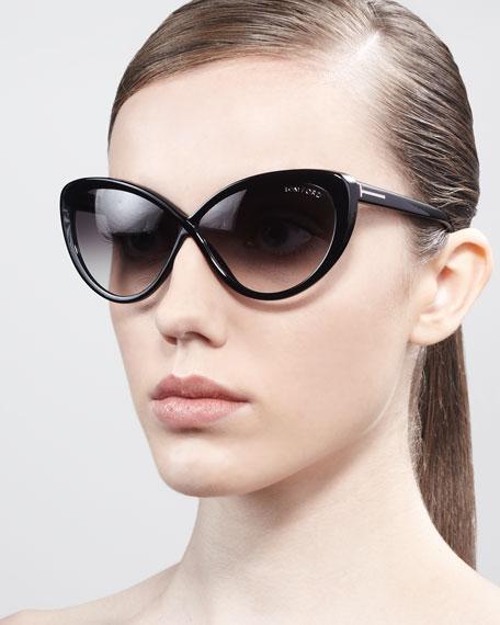 Madison Oversized Cat-Eye Sunglasses