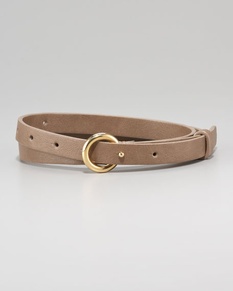 Skinny Faux-Leather Belt