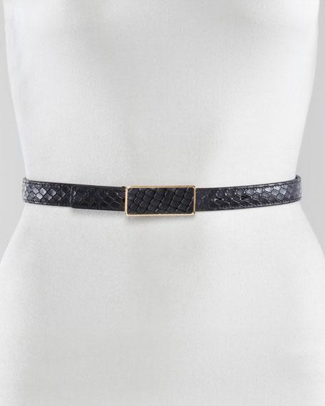 Snake-Embossed Belt