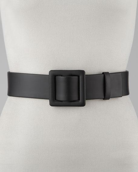 Wide Calfskin Belt