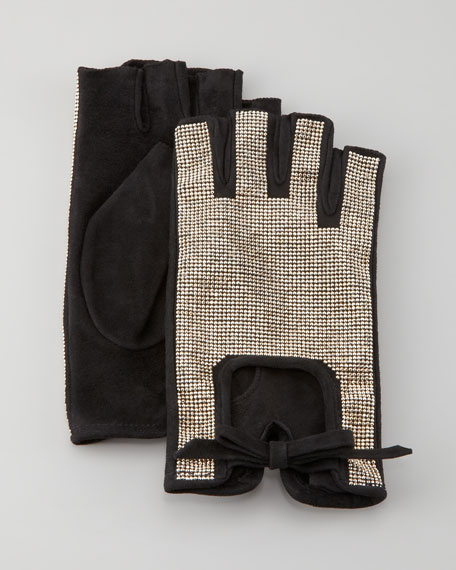 Rockstud Fingerless Gloves
