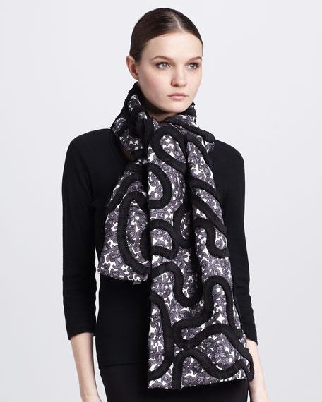 Paisley-Print Silk Twill Scarf