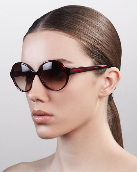 Bouvier Oversized Rounded Sunglasses, Pinot