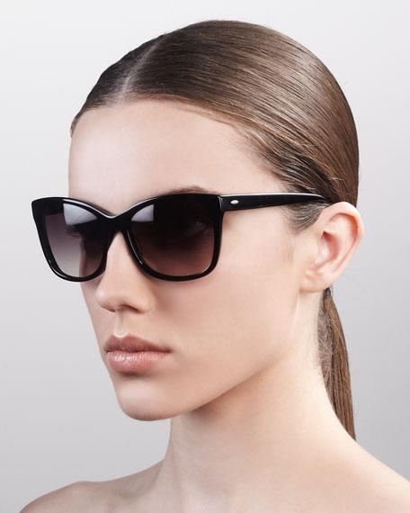 Cateye Gradient  Sunglasses, Black