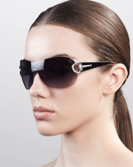 Logo Shield Sunglasses, Palladium