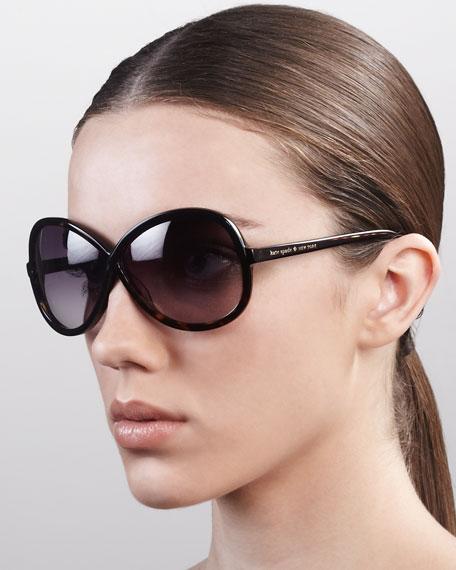 darcee interlace sunglasses, tortoise/black
