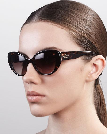 franca cat-eye sunglasses, tortoise