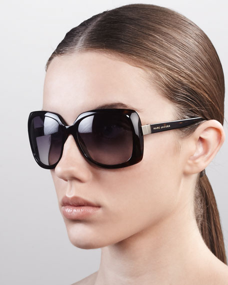 Square Sunglasses, Havana Brown