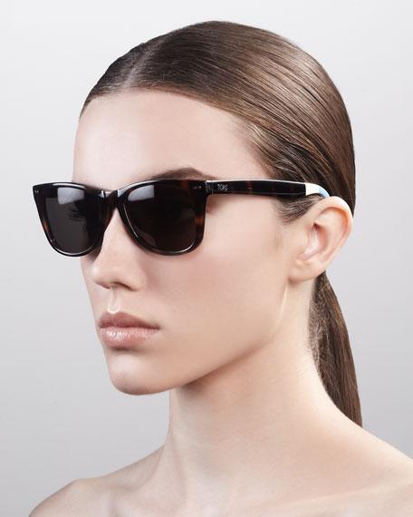 Classic 102 Sunglasses,Tortoise/Green-Gray