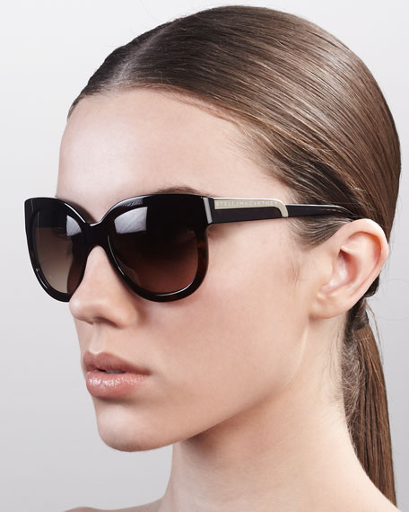 Rounded Plastic Sunglasses