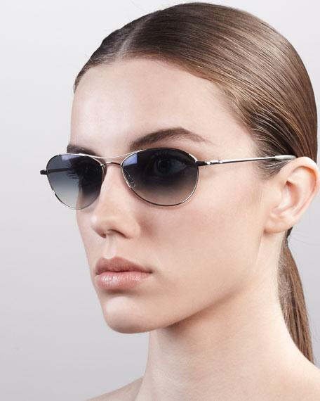 Aero Metal Sunglasses, Sapphire