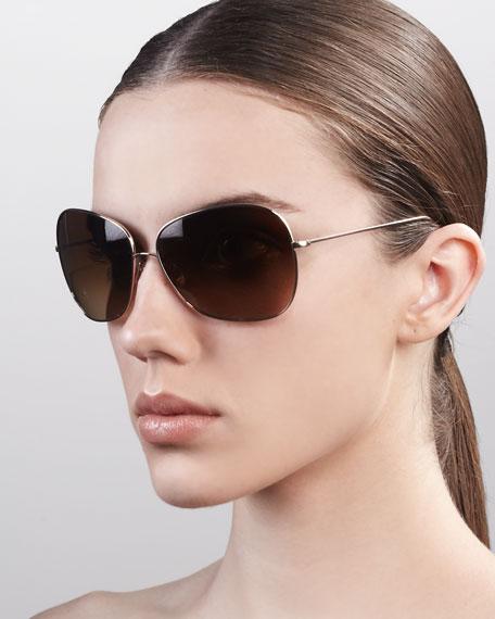 Elsie Sunglasses, Brown Gradient