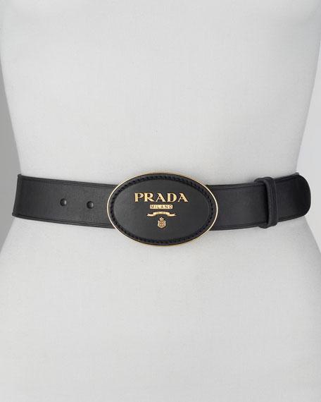 Leather-Logo Belt
