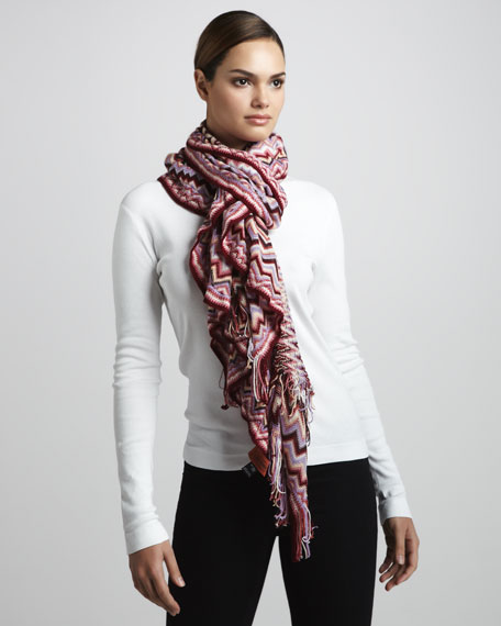 Zigzag-Detailed Scarf
