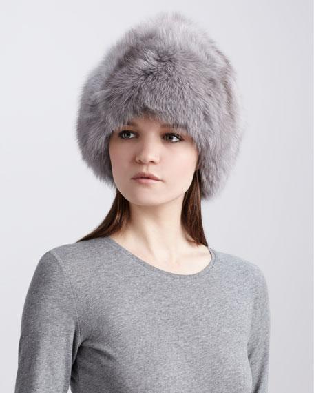 Fox Fur Hat, Gray